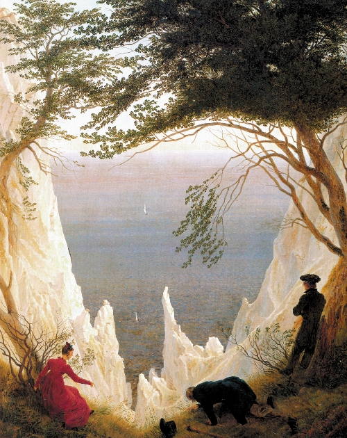 Chalk Cliffs on Rugen (1818) | Caspar David Friedrich | oil painting
