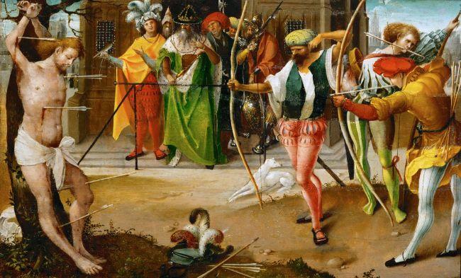 Martyrdom of Saint Sebastian   Jan de Beer   oil painting