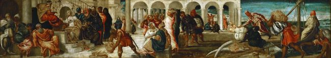 The Queen of Sheba before Solomon Belshazars Feast | Jacopo Tintoretto | oil painting