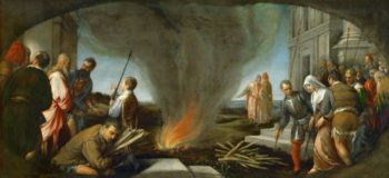 Tamar Led to the Stake | Jacopo Bassano il Vecchio | oil painting
