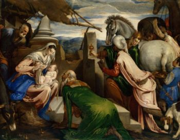 Adoration of the Magi -1563-1564 | Jacopo Bassano il Vecchio | oil painting