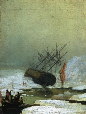 Wreck in the Sea of Ice (1798) | Caspar David Friedrich | oil painting