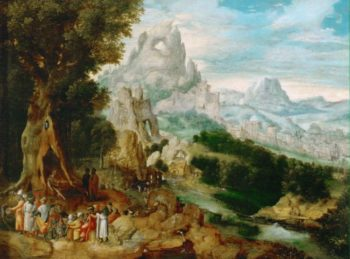 Landscape with John the Baptist Preaching | Herri met de Bles | oil painting