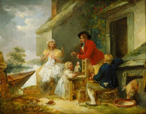The Cottage Door | George Morland | oil painting