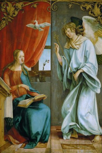 Annunciation outer wings of an altarpiece | Hans von Kulmbach | oil painting