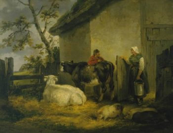 Cowherd and Milkmaid | George Morland | oil painting