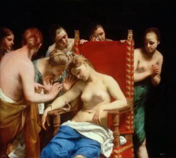 The Death of Cleopatra 1658 | Guido Cagnacci | oil painting