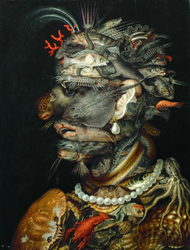 Water -Allegory of Water | Giuseppe Arcimboldi | oil painting