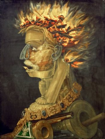 Fire -Allegory of Fire | Giuseppe Arcimboldi | oil painting