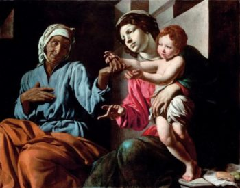 Madonna and Child with St Anne | Giovanni Battista Caracciolo | oil painting