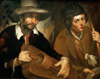 Blind Organ-Grinder | Francisco Herrera the Elder | oil painting