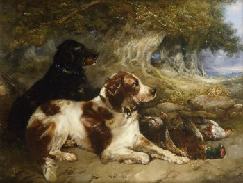 Gundogs with Game | George Armfield | oil painting
