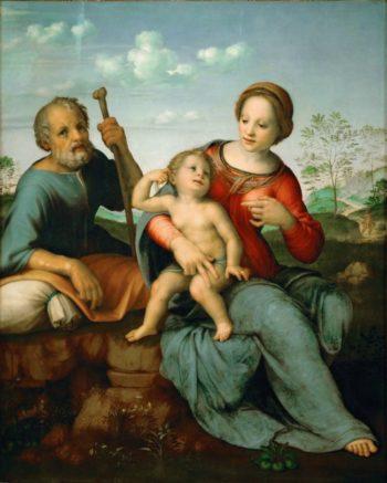 Holy Family | Franciabigio | oil painting