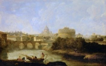 Castel Sant Angelo and St Peters church Rome | Claude-Joseph Vernet | oil painting