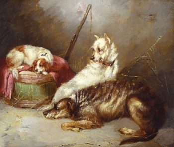 Before the Hunt | George Armfield | oil painting