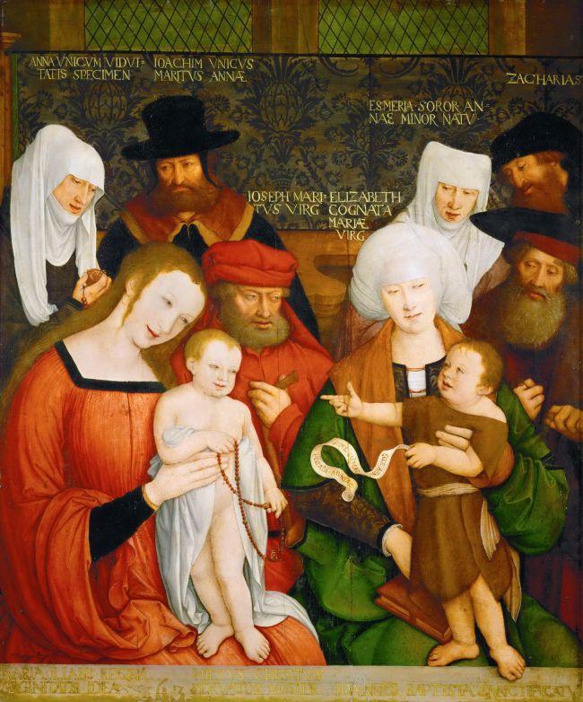 The Holy Kinship | Bernhard Strigel | oil painting
