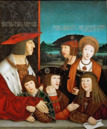 Emperor Maximilian I and his Family | Bernhard Strigel | oil painting