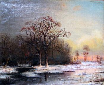 Winter Landscape 1876 | Julius Klever | oil painting