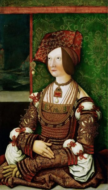 Bianca Maria Sforza Empress half length | Bernhard Strigel | oil painting