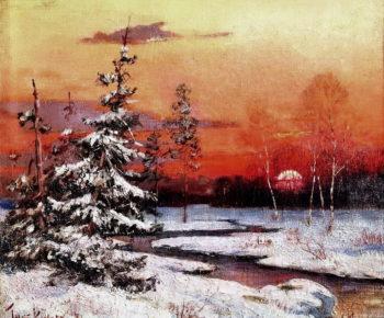 Winter landscape   Julius Klever   oil painting