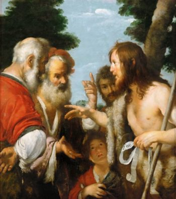 John the Baptist Preaching | Bernardo Strozzi | oil painting