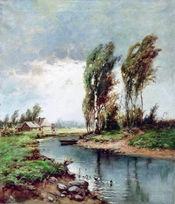 Will rain | Julius Klever | oil painting