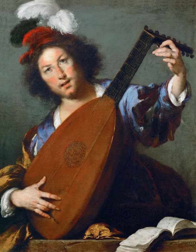 A Lute-player | Bernardo Strozzi | oil painting