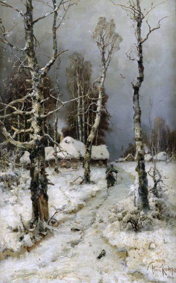 The Return 1903   Julius Klever   oil painting