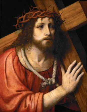Christ carrying the Cross | Bernardino Luini | oil painting