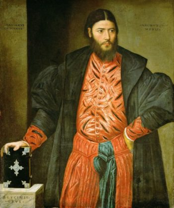 Ottaviano Grimani Procurator of San Marco   Bernardino Licinio   oil painting