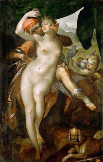 Venus and Adonis 1 | Bartholomeus Spranger | oil painting