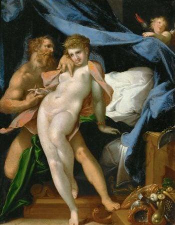 Vulcan and Maia | Bartholomaeus Spranger | oil painting