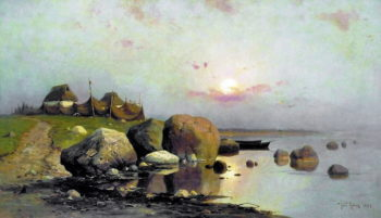 Fishermans Village | Julius Klever | oil painting