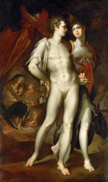 Love is Cold without Ceres and Bacchus | Bartholomaeus Spranger | oil painting