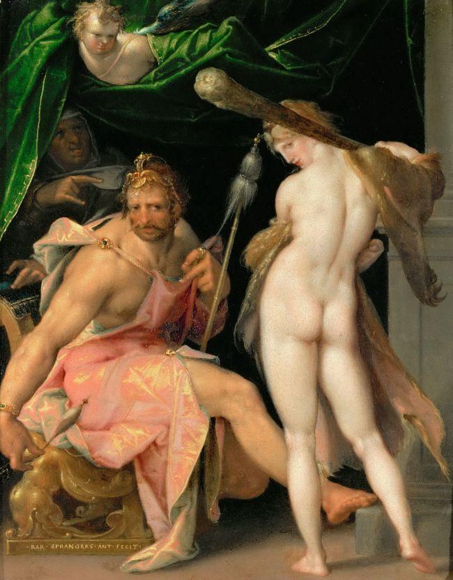 Hercules and Omphale   Bartholomaeus Spranger   oil painting