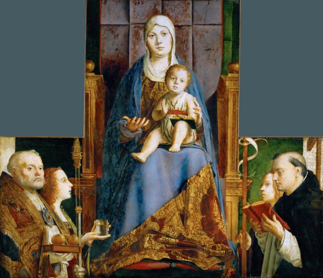 Madonna with Saint Nicholas of Bari | Antonello da Messina | oil painting
