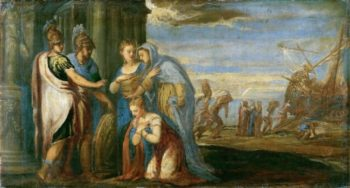 Aeneas Taking Leave of Dido | Andrea Schiavone | oil painting
