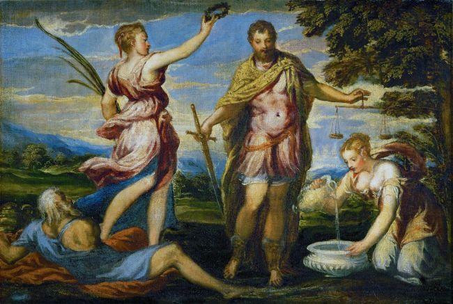 Scipio Africanus | Andrea Schiavone | oil painting