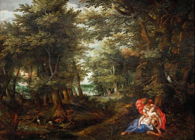 Wooded landscape with Cephalus and Procris 1608 | AlslootDenys van | oil painting
