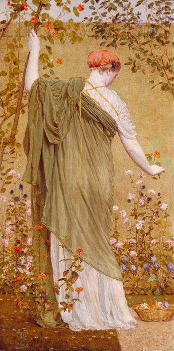 A Garden | Albert Moore | oil painting