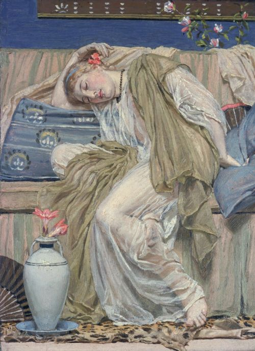 A Sleeping Girl | Albert Moore | oil painting