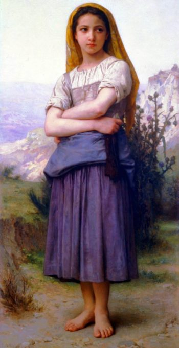 Tricoteuse | William Bouguereau | oil painting