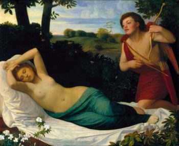Cupid and Psyche | Alphonse Legros | oil painting