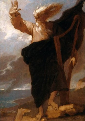 The Bard | Benjamin West | oil painting