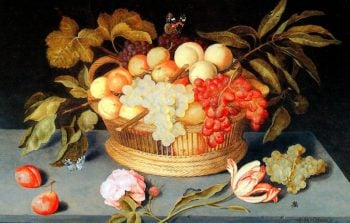 Fruit Basket (1627) | Johannes Bosschaert | oil painting