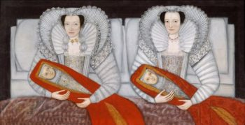 The Cholmondeley Ladies | British School 17th century | oil painting