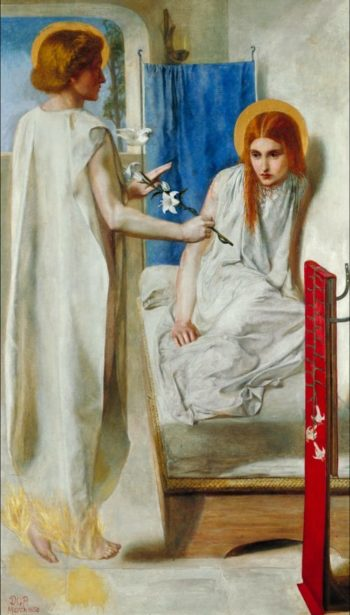 The Annunciation | Dante Gabriel Rossetti | oil painting