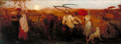The Harvest Moon | George Mason | oil painting