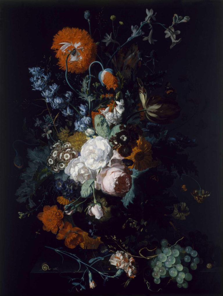 Bouquet of flowers (about 1716-1717) | Jan van Huysum | oil painting