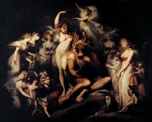 Titania and Bottom | Henry Fuseli | oil painting